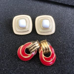 Trifari Jewelry - Trifari pierced earrings: 2 pair